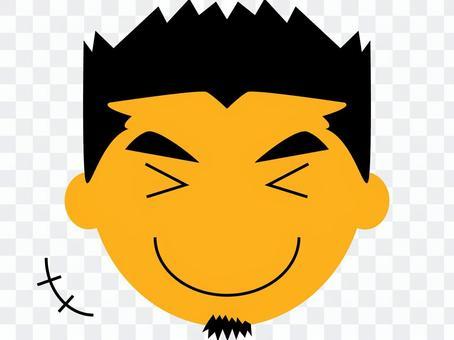 Cut face icon male music