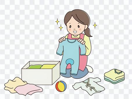 ベビー用品の整理