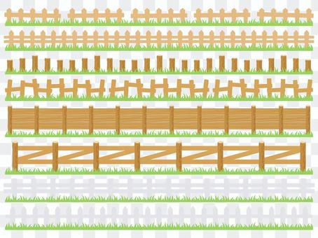 Wooden fence line (with lawn)