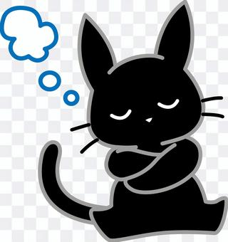 黑貓沉迷於思想