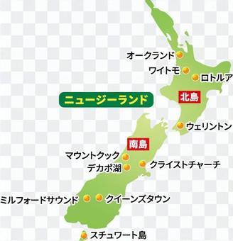 新西蘭地圖