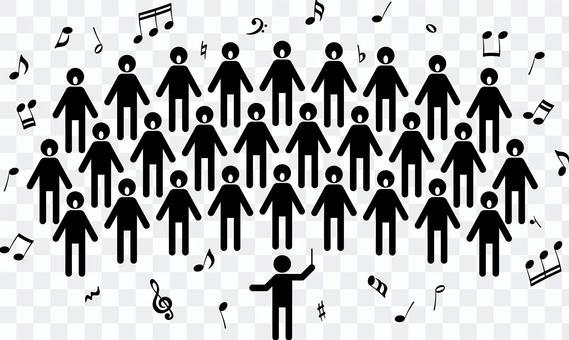 合唱 コーラス ピクトグラム