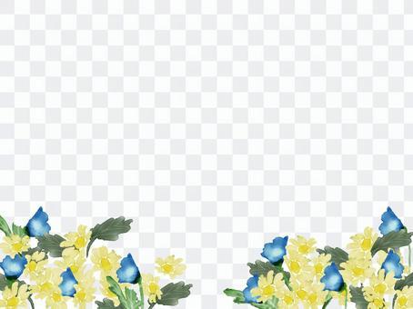 花場水彩背景