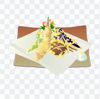 天婦羅什錦(橙色皿)