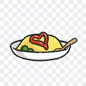煎蛋飯(心)