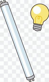 熒光燈和燈泡