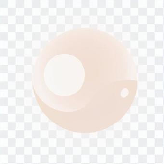 Round crystal - pink