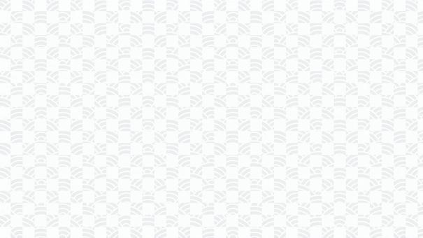 青海浪16:9白線上的水平藍地