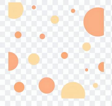 圓點圖案_橙色類型