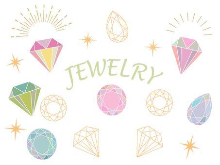 Fashionable jewelry set