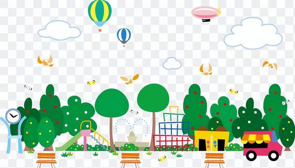 公園廣場遊樂場