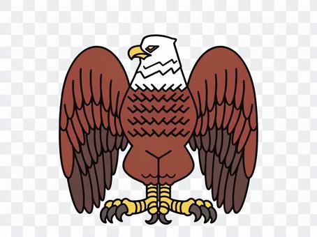 鷹像象徵的插圖