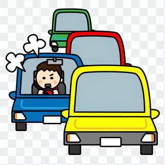 交通堵塞时,我感到恼怒