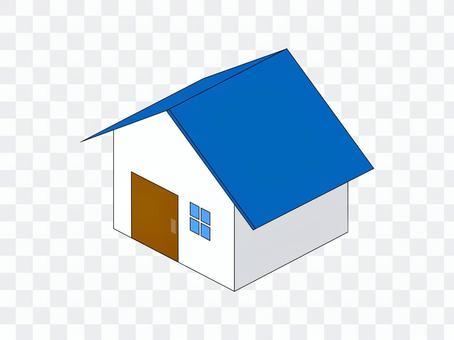 家庭家庭新建的二手藍色