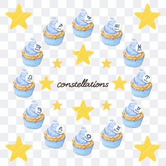 12 constellation cupcakes