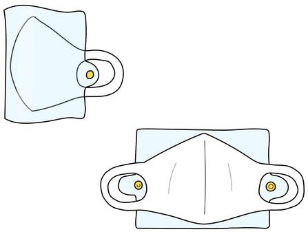 口罩和口罩情況白色