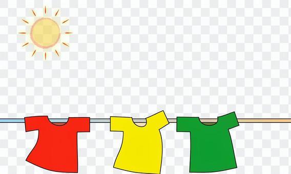 Tシャツと太陽