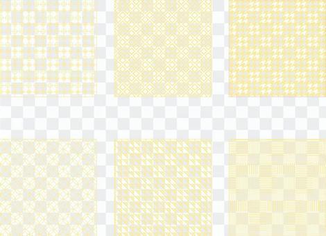 簡單的黃色圖案(透明背景)