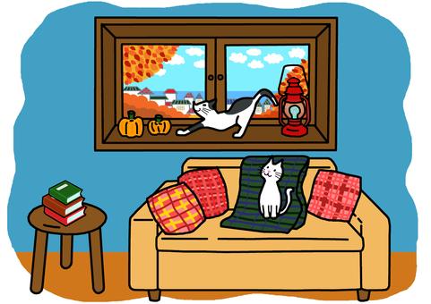 Autumn windowsill