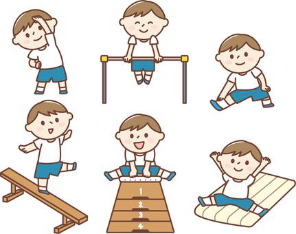 Gymnastics classroom men
