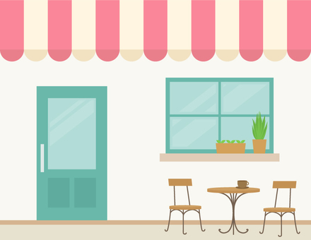 Cafe appearance _ Pink