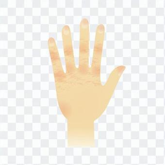 Rough hand