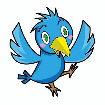 一隻藍色的小鳥