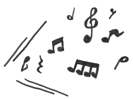 Musical note echoes