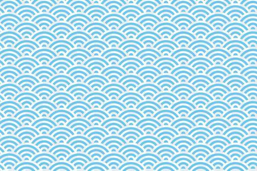 夏の涼しい背景素材(青海波・波模様)