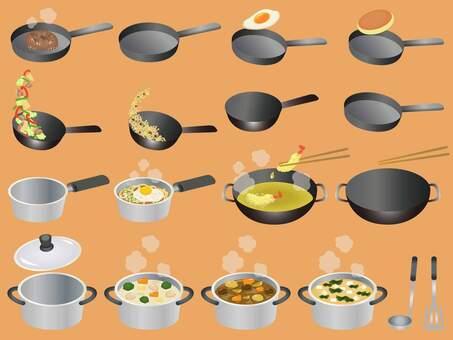 Cooking utensils illustration