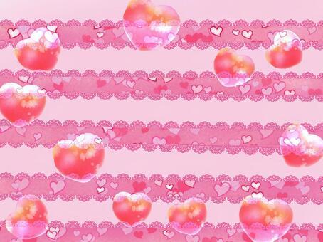 粉紅色的心卡