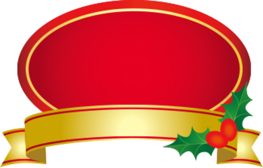 Christmas label red