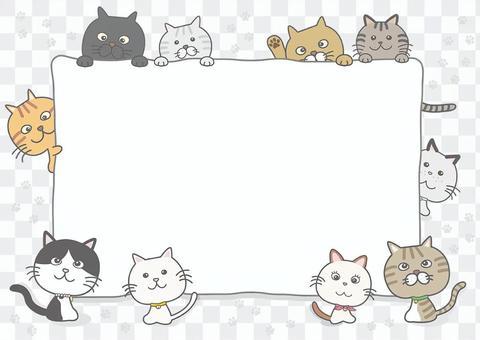 ネコちゃん背景フレーム