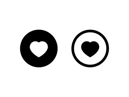 Heart's favorite button set: monochrome