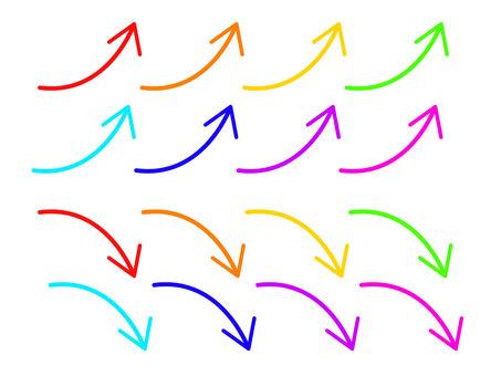 彩色箭頭一套