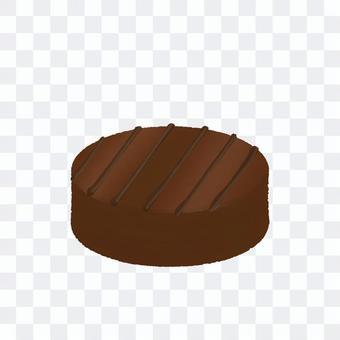 圓形條紋巧克力(無輪廓)