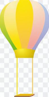 Balloon blanco with colorful and fun images