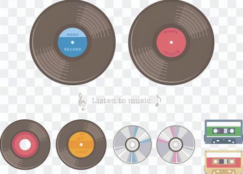 唱片,CD和盒式磁帶
