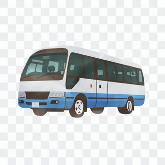 迷你巴士水彩風格