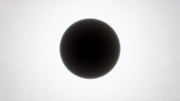 日食 黒円 黒球