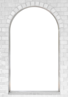 Brick window background_retro brick frame
