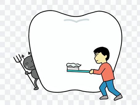 牙膏人VS齲齒細菌