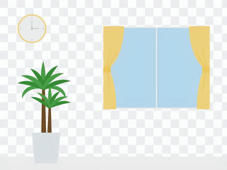 簡單的房間裡種著植物