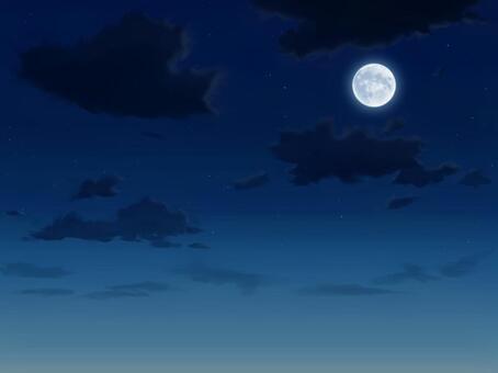 ゲーム背景風の夜空 1600×1200