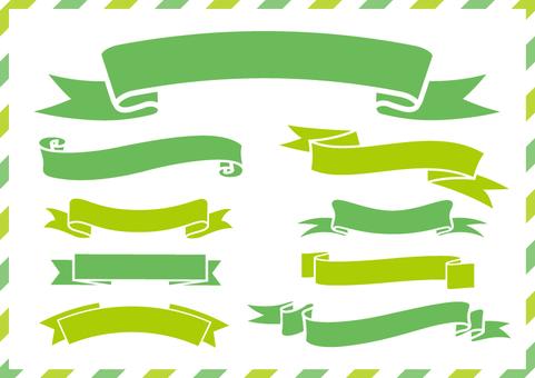 녹색 연두색 리본