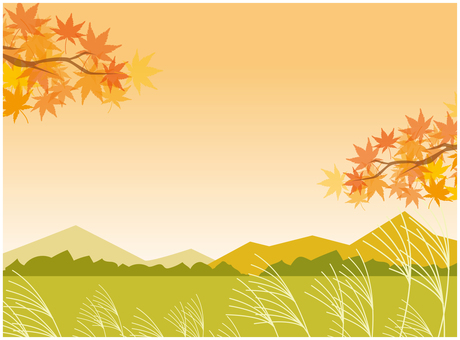 가을 단풍 시골 억새 배경