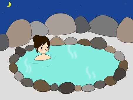 露天浴池的女人(夜)