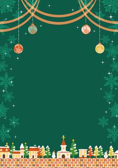 聖誕城市景觀和移動背景垂直