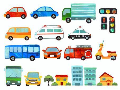 城鎮和汽車集