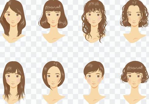 各種女性的髮型